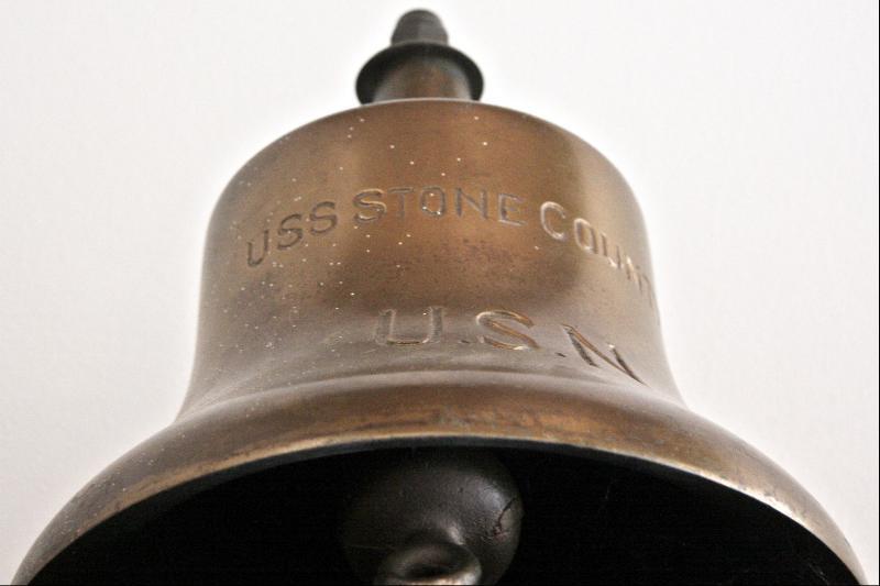 SC160_U S S Stone County ships bell 0602_Photo by Samuel E. Warren Jr. 0602_sized for Internet