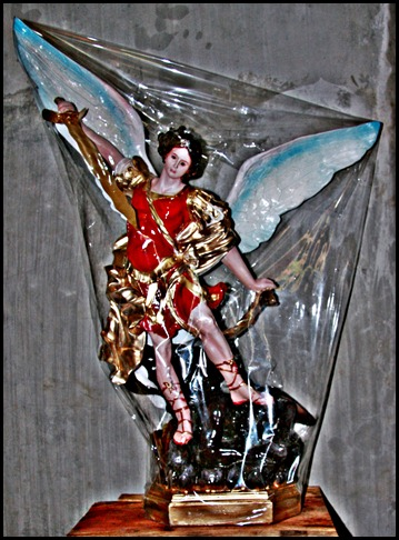SAINT MICHAEL THE ARCHANGEL STATUE PURCHASED AT THE HOLY ROSARY RELIGIOUS STORE IN TACLOBAN CITY PHILIPPINES