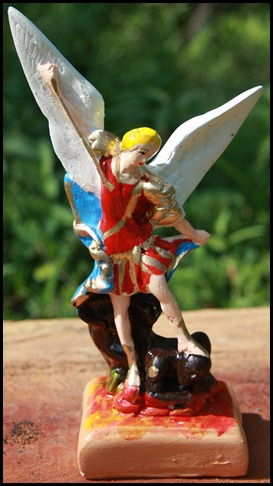SMALL SAINT MICHAEL STATUE