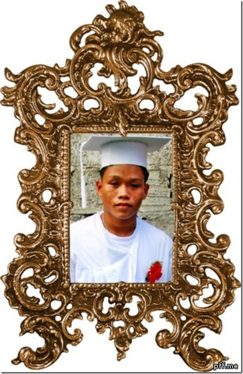 Glen in Cap and Gown in Ornamental Frame.jpg