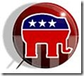 REPUBLICAN ELEPHANT PIN FACE RIGHT